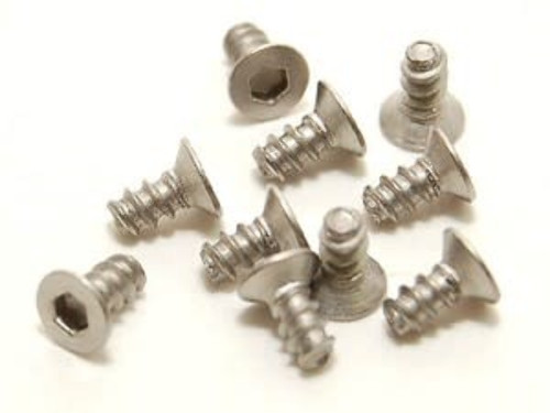 PN Racing 700734 M2x4 Titanium Countersunk Hex Tapping Screw (10pcs)