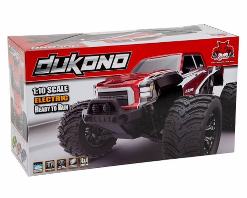 REDCAT RER10674 Dukono 1/10 Scale Electric Monster Truck Red