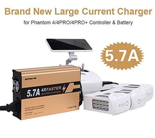 Sunnylife 4 Faster Charger 4in1 Battery and Remote Controller Charger 5.7A Big Current for DJI Phantom 4 4PRO 4PRO+ V2.0
