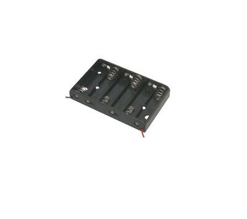6x AA Battery Holder with 6 Inch Wires Tray