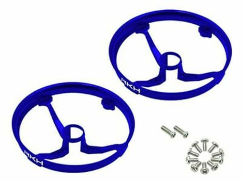 Rakon CNC AL Propeller Guards (Blue) - Blade Inductrix