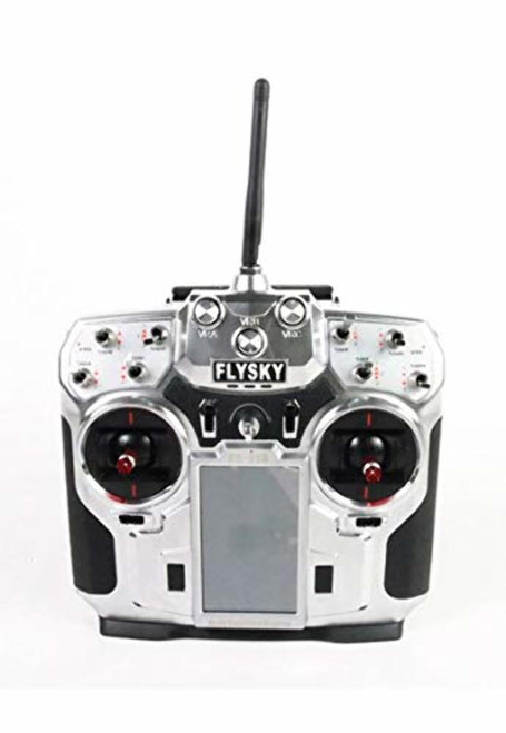 FlySky i10 2.4Ghz AFHDS2 10 Channel Transmitter with Telemetry System, Silver
