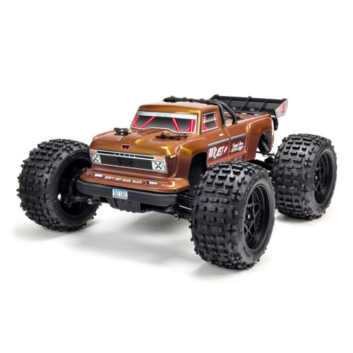 ARRMA 1/10 OUTCAST 4x4 4S BLX Brushless Truggy Bronze with Spektrum RTR
