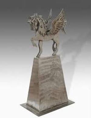 Winged Stallion (Weathered Steel)
