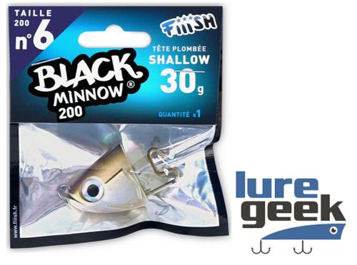 Fiiish Black Minnow 160 No.5 Jig Heads 30g Pack of 2