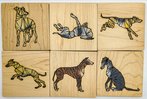 Maple Greyhound Coasters