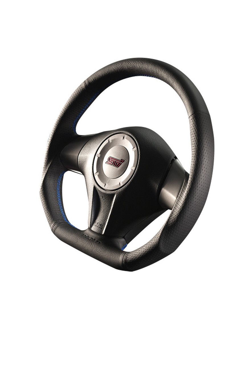 Damd Steering Wheel SS358D-F-3, Blue Stitch at AVOJDM.com