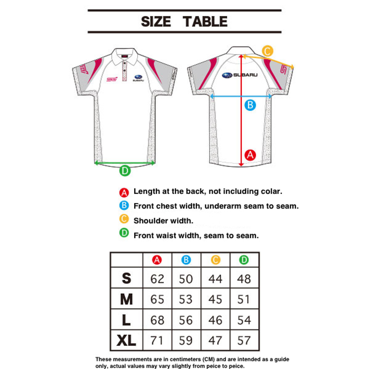 Subaru / STI Team Polo Shirt STSG17101*** at AVOJDM.com