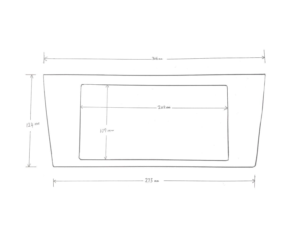 BN/BS Legacy A/V Fascia Panel Dimensions at AVOJDM.com