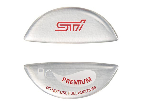 STI Premium Fuel Cap Sticker Silver STSG18100630 at AVOJDM.com