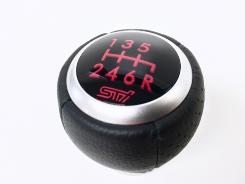 STI 6 Speed Leather-Aluminium Shift Knob SG117AJ015 at AVOJDM.com