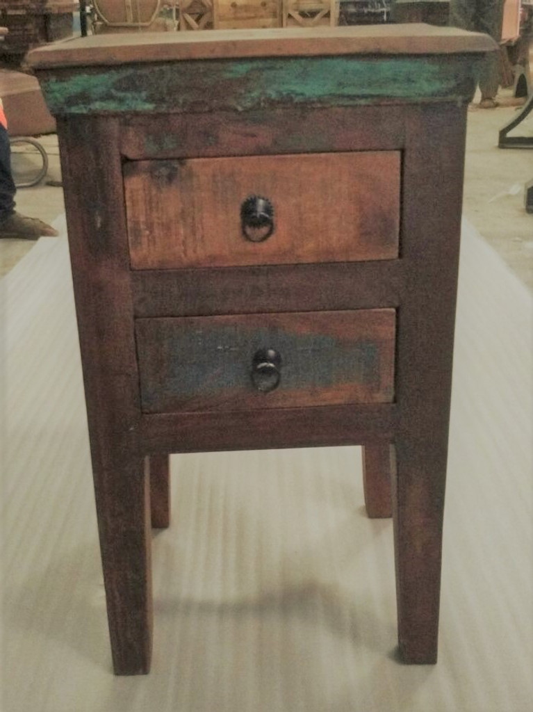 Picture of: Reclaimed Wood Bedside Table Cargo West