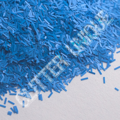 Matte Neon Blue Short Slices .062 x .0125
