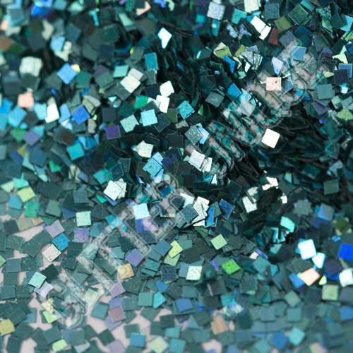 Turquoise Holo Square .035