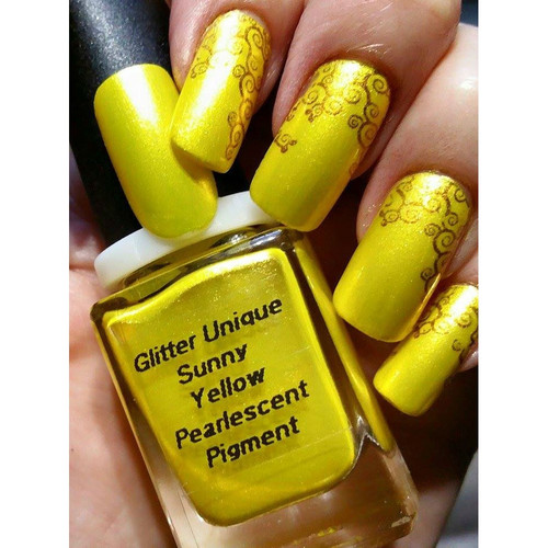 Sunny Yellow Pearlescent Pigment