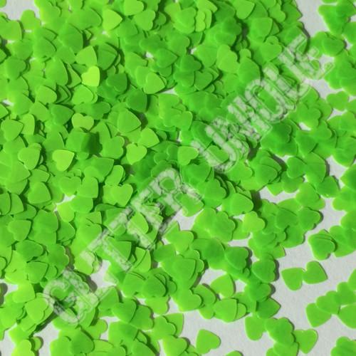 Neon Green Hearts