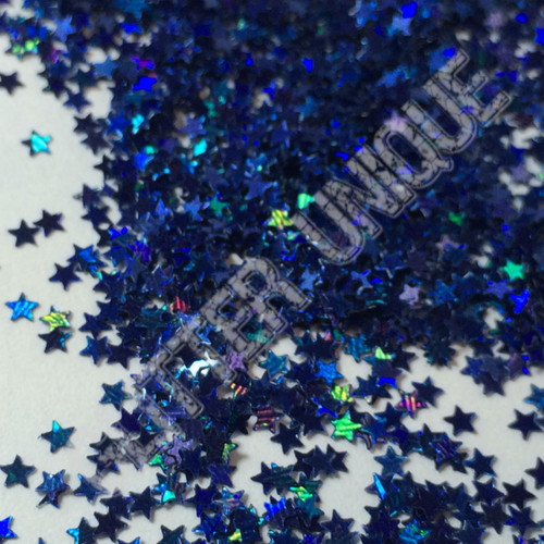 Navy Holo Stars - MINI