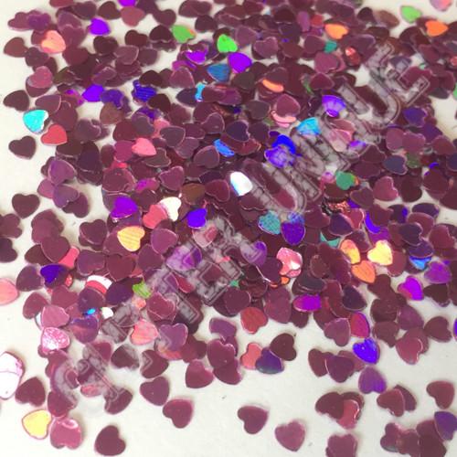 Violet Holo Hearts