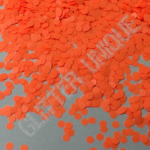 Neon Orange Dots .078