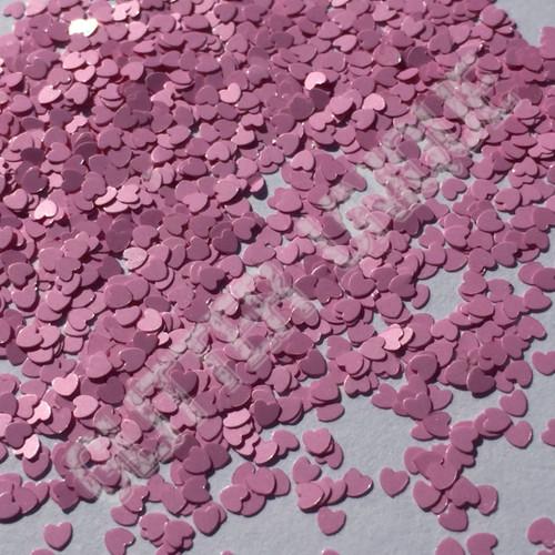 Matte Cotton Candy Pink Hearts - MINI