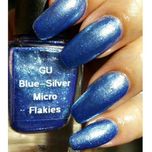Blue-Silver Micro Flakes