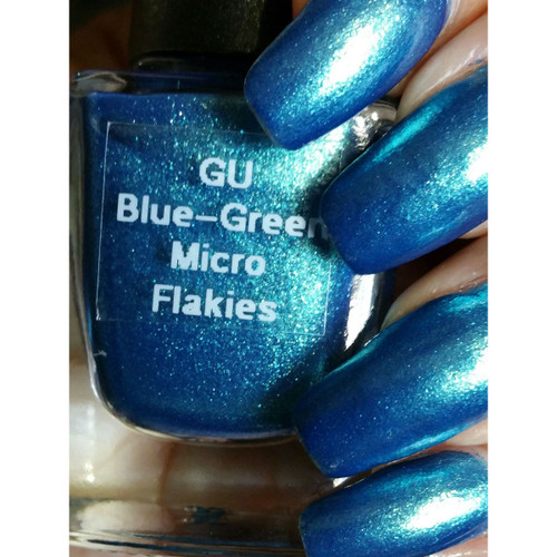 Blue-Green Micro Flakes
