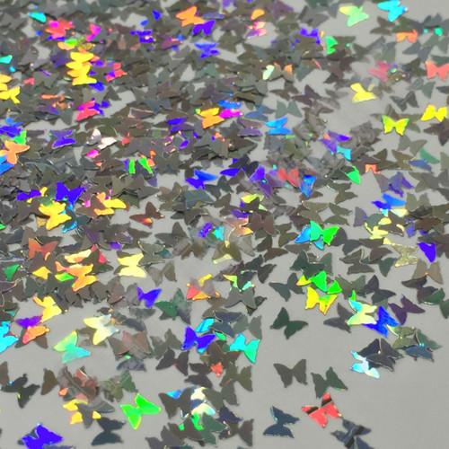 Silver Holo Butterflies - New Shape!