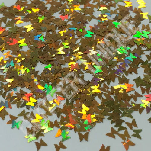 Gold Holo Butterflies - New Shape!