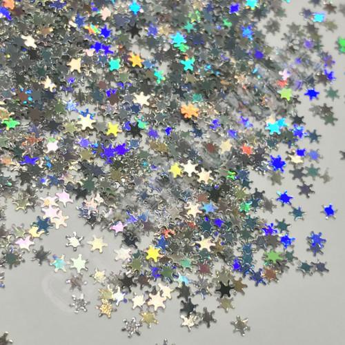Silver Holo Snowflakes - MINI