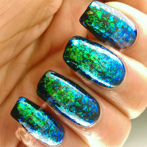 Blue/Green/Gold Color Shifting Flakes