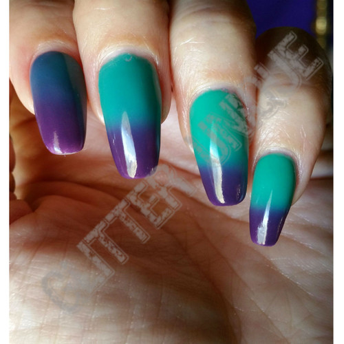 Purple to Green Thermochromic Pigment