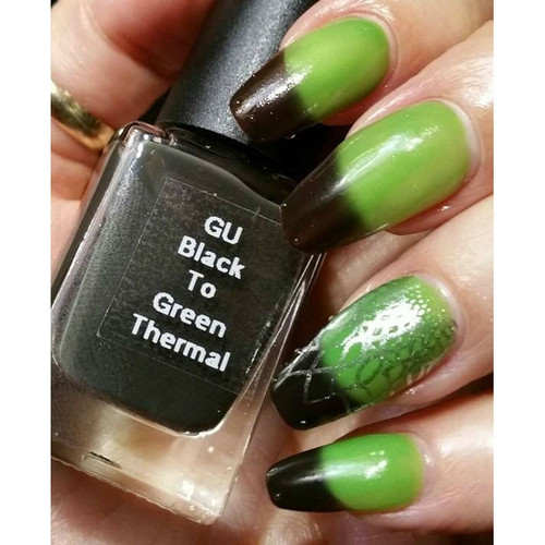 Black to Green Thermochromic Pigment
