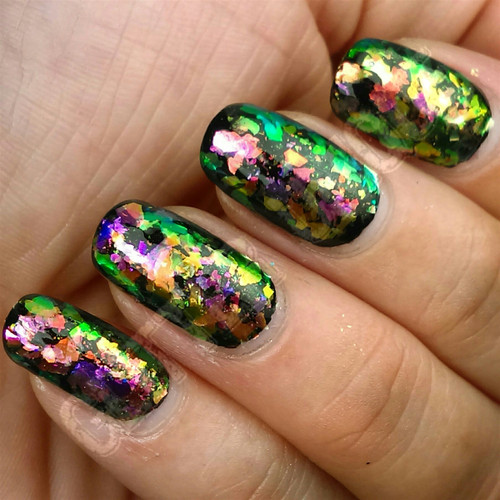 Purple/Lime/Copper/Pink Color Shifting Flakes
