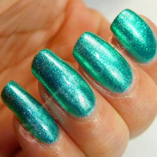 Turquoise Green Metallic Micro Flakes