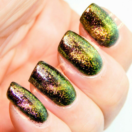 Magnetic Ultra Chrome Chameleon Flakes - Green/Gold/Violet