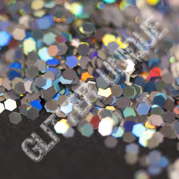Silver Holo Hex .062