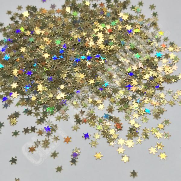 Gold Holo Snowflakes - MINI