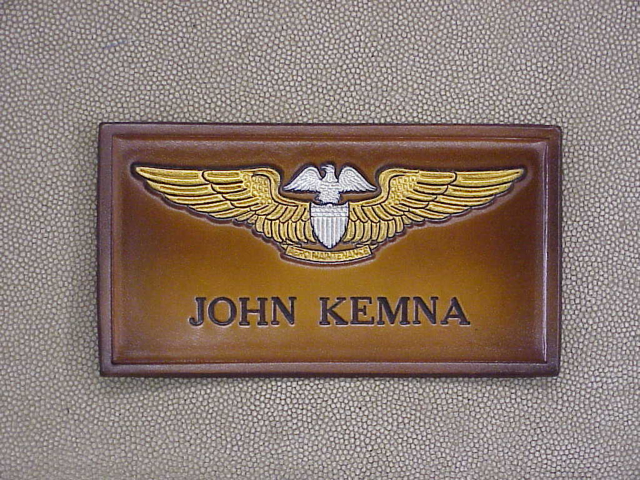 U.S. NAVY PAMO  NAME  TAG , 1 Line of Text CLASSIC EMBOSSED
