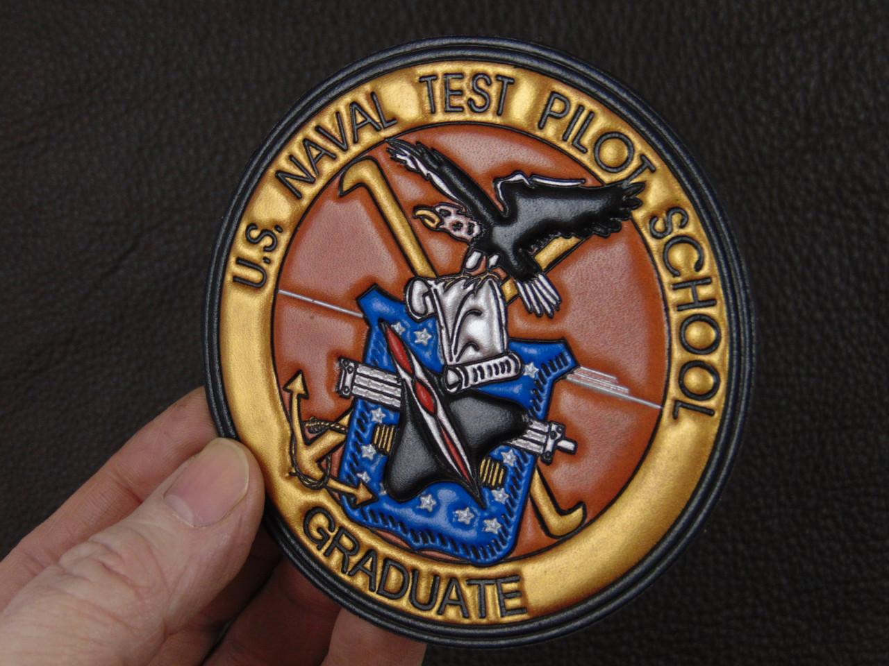 US NAVAL TEST PILOT GRAD   USNTPS  Gold Banner