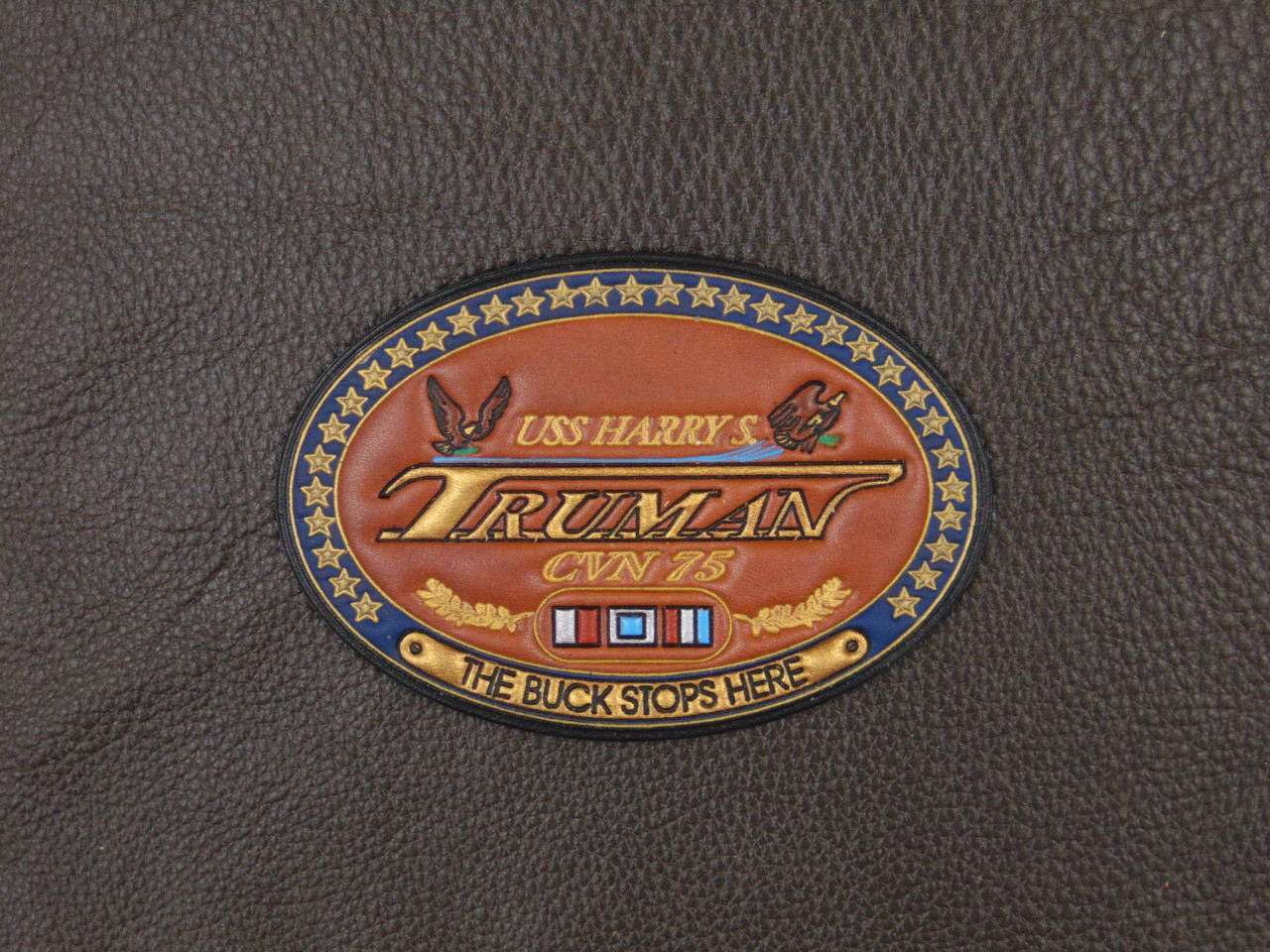 CVN-75 HARRY S TRUMAN Patch, Classic Embossed Leather