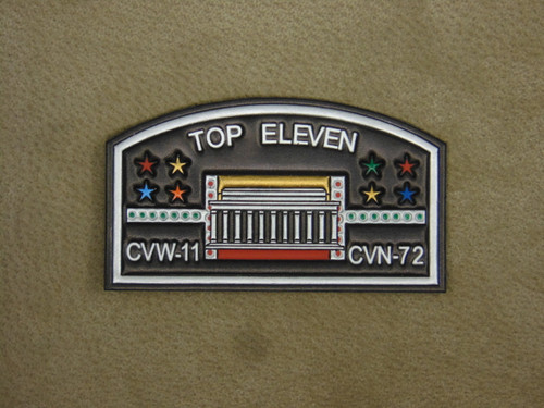 CVW-11  Top Eleven Patch   Fullly Embossed