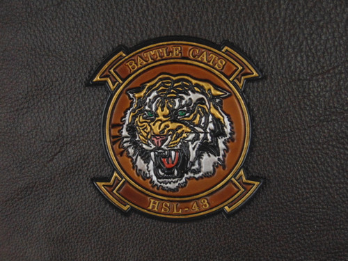 HSL-43 BATTLE CATS Deep Embossed Vintage Leather