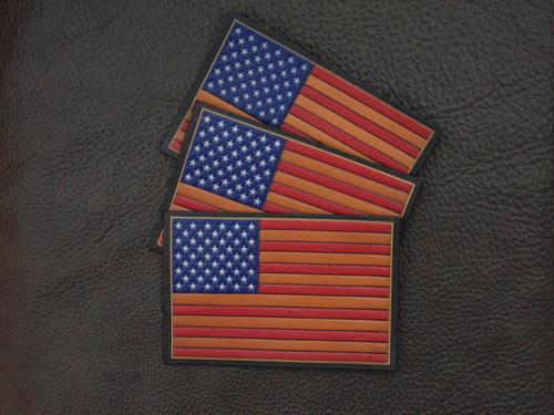 US FLAG, Vintage Color Embossed  (SECOND)