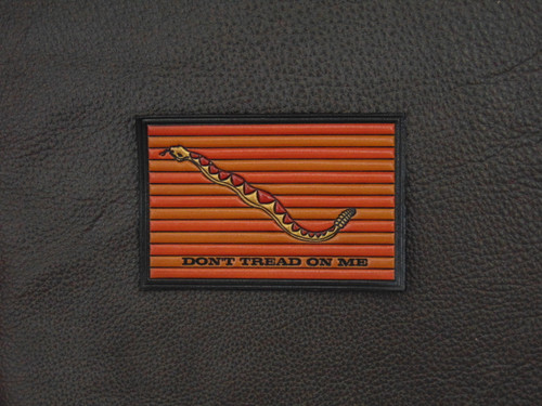 DTOM  First Navy Jack  DON'T TREAD ON ME FLAG  C18VC Embossed  Fine Leather