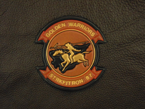 VFA-87   Golden Warriors  Classic Embossed Leather
