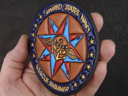 USN RESCUE SWIMMER  Compass Rose  SAR Classic Embossed