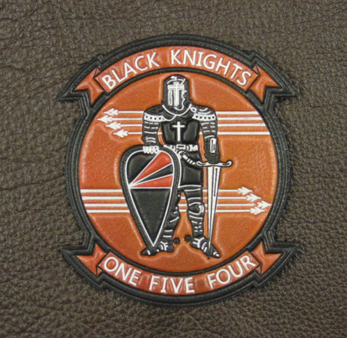VFA-154 Black Knights Classic Embossed VC  Heritage