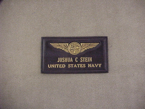 U.S. NAVY  AIRCREW  TAG , 2 Lines of Text CLASSIC EMBOSSED