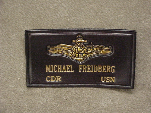 U.S. NAVY INFO WARFARE Officer  NAME  TAG , 2 Lines of Text CLASSIC EMBOSSED