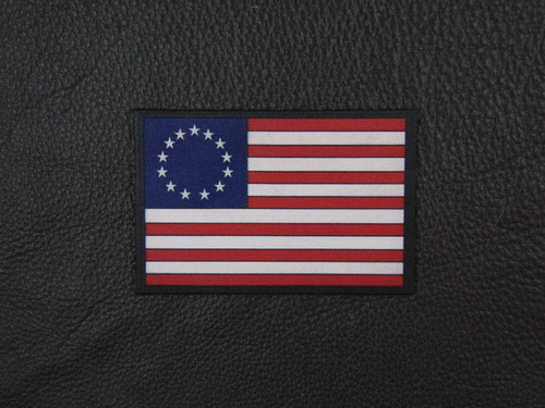 US FLAG 1776 Betsy Ross  Full Color  Leather